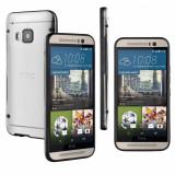 Husa hard transparenta margine bumper negru HTC ONE M9 + cablu date, Transparent, Silicon, Carcasa