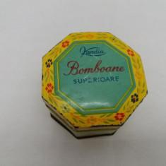 CUTIE METALICĂ BOMBOANE KANDIA 1961 - Cutie Reclama