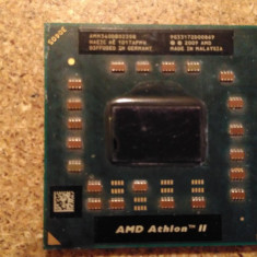 Procesor AMD ATHLON II DUAL CORE MOBILE M340 AMM340DBO22GQ 2.2GHz 2X512KB - Procesor laptop AMD, S1