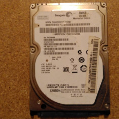 Hard-disk / HDD SEAGATE MOMENTUS 250GB ST9250315AS Defect - Sectoare realocate - HDD laptop Seagate, 200-299 GB, SATA