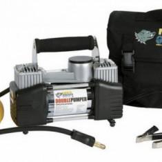 Compresor cu doi cilindri auto 12v 150PSI 85 Lpm alimentare priza bricheta - Compresor Auto