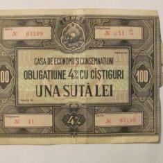 CY - Obligatiune 4% RPR 100 lei CEC