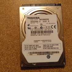 Hard-disk / HDD TOSHIBA 250GB MK2565GSX Defect -Sectoare realocate - HDD laptop Toshiba, 200-299 GB, SATA