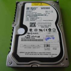 HDD 36.7GB Western Digital Raptor WD360 SATA - DEFECT, Sub 40 GB, Western Digital