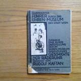 GESCHICHTE DER RADERUHR - Rudolf Kaftan - Wien, 1929, 112 p.