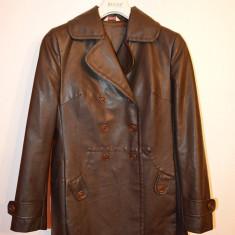 Geaca /jacheta de piele marca Stefanel marime 40, maro - Geaca dama, Culoare: Din imagine, Bumbac