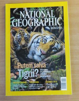 National Geographic Romania #Decembrie 2011 Putem salva tigrii?, Fukushima foto