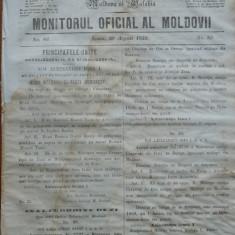 Principatele Unite , Monitorul oficial al Moldovii , Iasi , nr. 86 , 1859