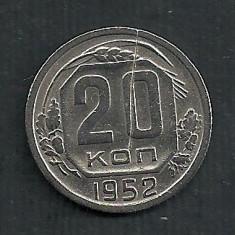 RUSIA URSS 20  COPEICI  KOPEICI  KOPEEK  1952  [1]  livrare in cartonas, Europa, Cupru-Nichel