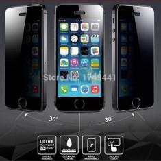 Iphone 5 5S 5C SE - Folie Sticla Securizata Privacy Neagra - Folie de protectie Apple, Colorata