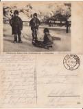 Copii cu sania - tipuri- Maramures-WK1, WWI- rara