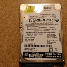 Hard-disk / HDD WESTERN DIGITAL 160GB WD1600BEVS Defect - Nu comunica, 100-199 GB, SATA, Western Digital