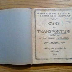 CURS DE TRANSPORTURI - Virgil N. Madgearu - curs stenografiat: I. Olteanu, 1924