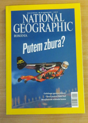 National Geographic Romania #Septembrie 2011 - Putem zbura? foto
