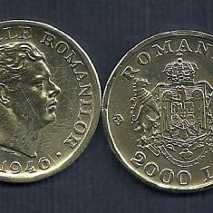 ROMANIA MIHAI I 2000 2.000 LEI 1946 [2] XF+, livrare in catonas - LUCIU - Moneda Romania, Alama