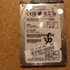 Hard-disk / HDD HITACHI 250GB HTS543225A7A384 Defect -Sectoare realocate - HDD laptop Hitachi, 200-299 GB, SATA