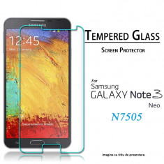 FOLIE STICLA Samsung Galaxy Note 3 NEO 0.33mm tempered glass antisoc securizata - Folie de protectie Samsung, Anti zgariere
