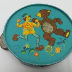 JUCĂRIE ROMÂNEASCĂ TAMBURINĂ / AGATEX 1987 - Jucarie de colectie