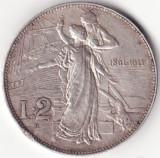 Regatul Italiei - 2 Lire 1911 - A 50-a aniversare a Regatului - Argint - Rara, Europa