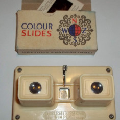 Aparat pentru diapozitive Simplex stereoscope lestrade Franta anii 70 plus bonus