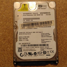Hard-disk / HDD WESTERN DIGITAL 250GB WD2500BEVS Defect - Nu comunica - HDD laptop Western Digital, 200-299 GB, SATA