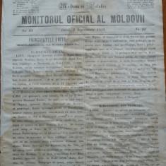 Principatele Unite , Monitorul oficial al Moldovii , Iasi , nr. 93 , 1859
