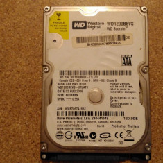 Hard-disk / HDD WESTERN DIGITAL 120GB WD1200BEVS Defect - Nu comunica - HDD laptop Western Digital, 100-199 GB, SATA