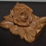 Suport din lemn pentru foto / poza in forma de trandafir sculpat manual #123