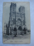 Cumpara ieftin Carte postala circulata in anul 1905 - REIMS - Facade de la Cathedrale