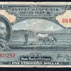 Etiopia 1 Dollar ND 1945 P#12 - bancnota africa