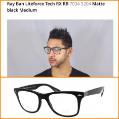 Rame Ray Ban Liteforce tech RB 7034 5204 matte black - Rama ochelari Ray Ban, Fashion