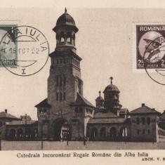 ALBA IULIA CATEDRALA INCORONARII REGALE ROMANE, 15 OCT.1922 - Carte Postala Transilvania dupa 1918, Necirculata, Printata