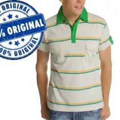 Tricou barbat Luca Polo - tricou original - Tricou barbati, Marime: M, Culoare: Alb, Maneca scurta, Bumbac
