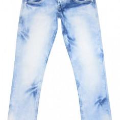 Blugi LAVIRTU - (MARIME: 30) - Talie = 79 CM, Lungime = 107 CM - Blugi barbati, Culoare: Albastru, Prespalat, Drepti, Normal