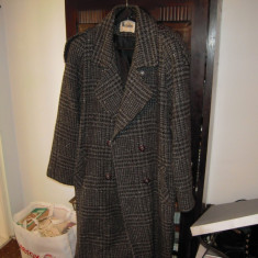 Palton de dama gri, marimea 46, din lina 100%, stare buna - Palton dama, Marime: 46/48, Lana