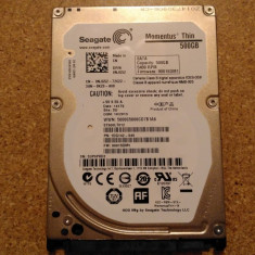 Hard-disk/ HDD SEAGATE MOMENTUS THIN 500GB ST500LT012 Defect - Nu se alimenteaza - HDD laptop Seagate, 500-999 GB, SATA