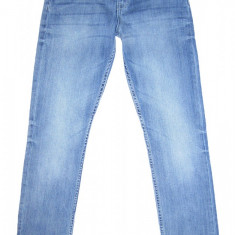 Blugi Conici H&M - (MARIME: EUR 170 / corespunde marimea 28) - Talie = 78 CM - Blugi barbati H&M, Culoare: Albastru, Lungi, Prespalat, Skinny, Normal