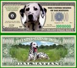 USA 1 Million Dollars UNC Dalmatian