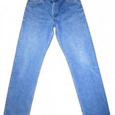 Blugi LEE - (MARIME: 31 x 34) - Talie = 80 CM, Lungime = 116 CM - Blugi barbati Lee, Culoare: Albastru, Prespalat, Drepti, Normal