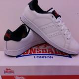 Adidas original Lonsdale piele naturala. Livrare gratuita. - Adidasi dama, Culoare: Alb, Albastru, Marime: 35.5, 37, 38