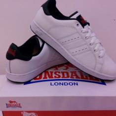 Adidas original Lonsdale piele naturala. Livrare gratuita. - Adidasi dama Lonsdale, Culoare: Alb, Albastru, Marime: 35.5, 37, 38