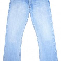 Blugi H&M - (MARIME: 34 x 32) - Talie = 92 CM, Lungime = 111, 5 CM - Blugi barbati H&m, Culoare: Albastru, Prespalat, Bootcut, Normal