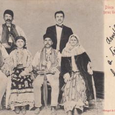 DINCA SCHILER DEPUTATUL TERAN DE GORJ CU FAMILIA SA, CIRCULATA 1900 - Carte Postala Oltenia 1904-1918, Printata