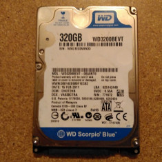 Hard-disk / HDD WESTERN DIGITAL 320GB WD3200BEVT Defect - Nu comunica - HDD laptop Western Digital, 300-499 GB, SATA