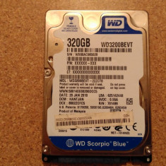 Hard-disk / HDD WESTERN DIGITAL 320GB WD3200BEVT Defect - Sectoare realocate - HDD laptop Western Digital, 300-499 GB, SATA