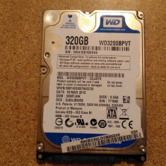 Hard-disk / HDD WESTERN DIGITAL 320GB WD3200BPVT Defect - Nu comunica - HDD laptop Western Digital, 300-499 GB, SATA