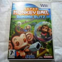 Super Monkey Ball Banana Blitz, pentru Wii, original, alte sute de jocuri! - Jocuri WII Altele, Actiune, 3+, Single player