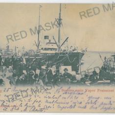 411 - L i t h o, GALATI, ship - old postcard - used - 1905, Circulata, Printata