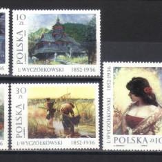 POLONIA 1987, Picturi, serie neuzată, MNH - Timbre straine, Nestampilat