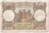 MAROC 100 FRANCI FRANCS 1952 U